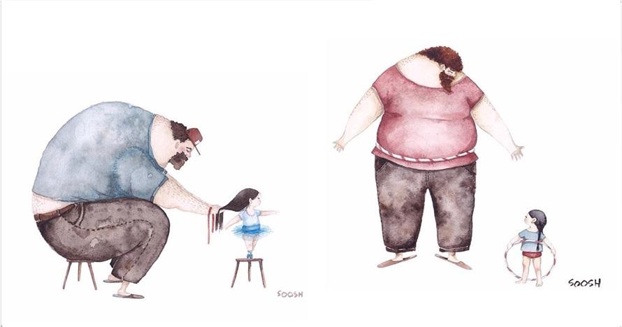 12 Ilustrasi kedekatan ayah dengan anak gadisnya, mengharukan!