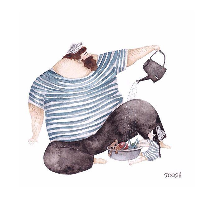 ilustrator kedekatan ayah dan anak perempuannya © 2016 brilio.net
