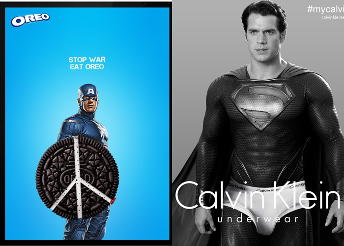 15 Pose keren para superhero ketika menjadi bintang iklan, boleh juga!