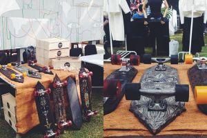 Skateboard ukiran tradisional ini bikin kamu hits & cinta Indonesia