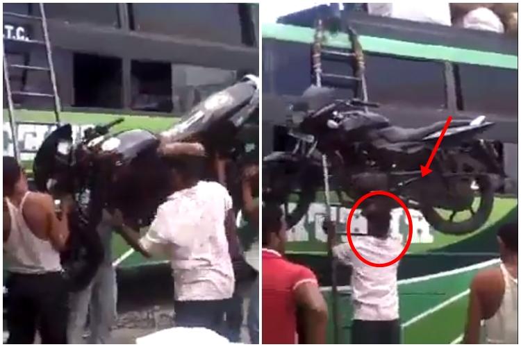 Bak Super Hero, lelaki ini panggul motor sport ke atas bus sendirian!