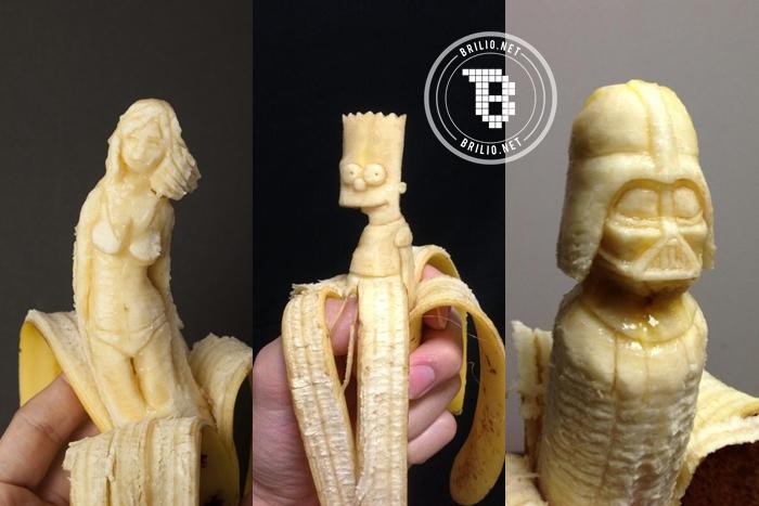 13 Karya ukiran unik berbahan pisang, ada yang mirip Kim Jong Un!
