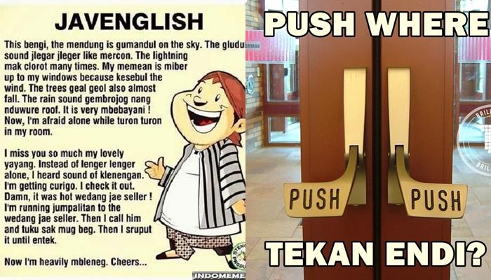 15 Terjemahan Inggris-Jawa bikin ngakak sampai lupa rasanya patah hati