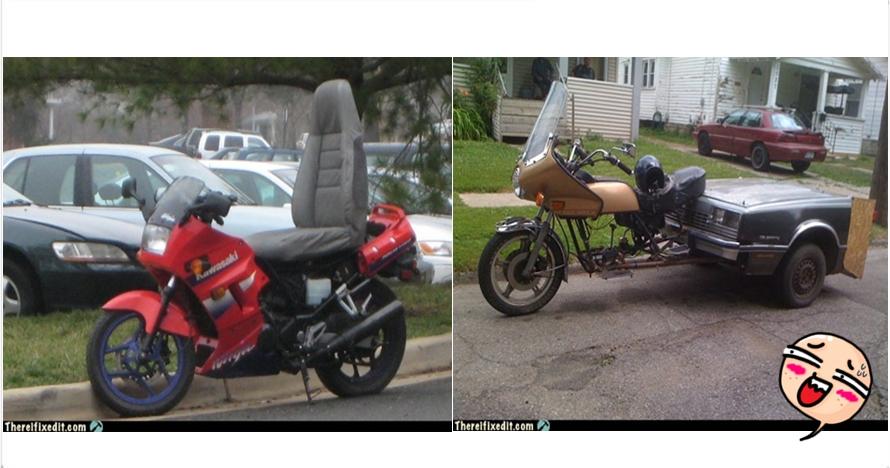 16 Modifikasi sepeda motor ini gagal total, nomor 11