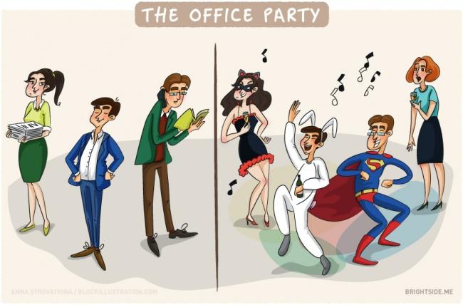 11 Ilustrasi Ini Tunjukkan Kebiasaan Pegawai Kantoran Kamu Bange