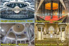 Foto interior 15 masjid ini bikin hati adem, favoritmu nomor berapa?