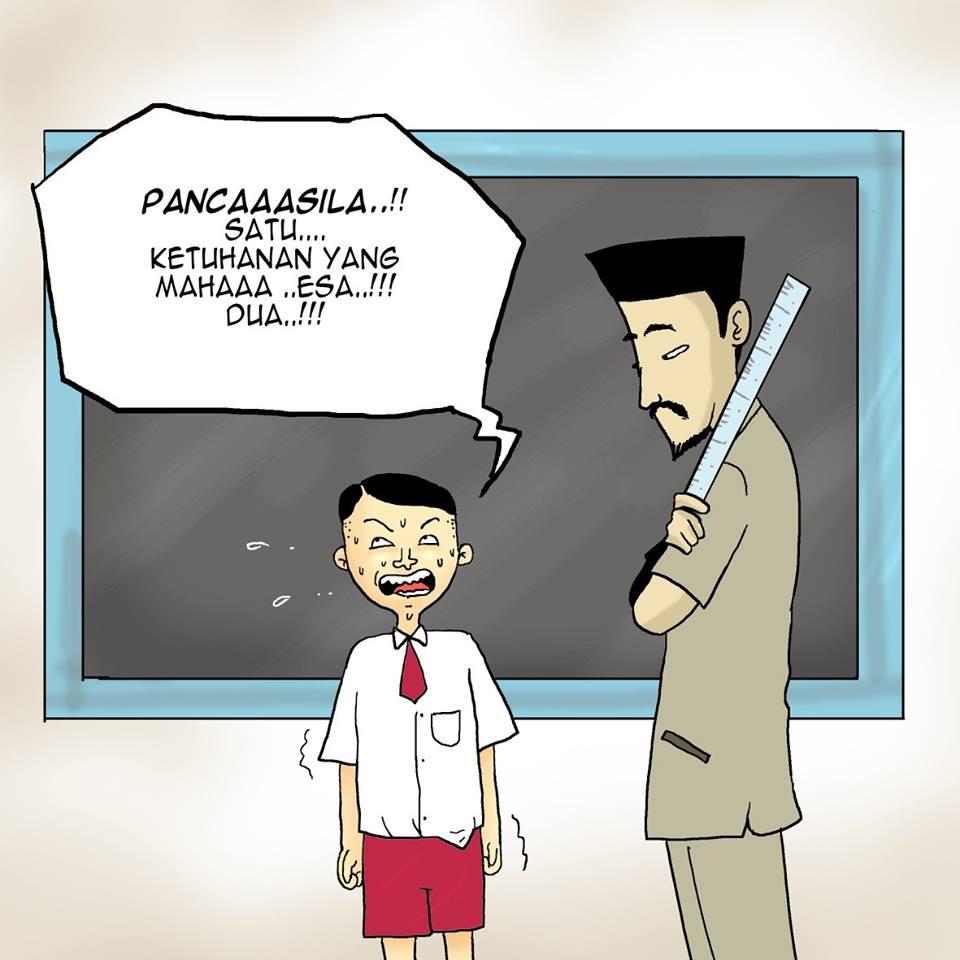10 Komik strip nyindir banget Zaskia Gotik si Duta Pancasila, menohok!