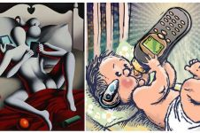 15 Ilustrasi keren ini sindir para pecandu gadget, kamu merasa nggak?