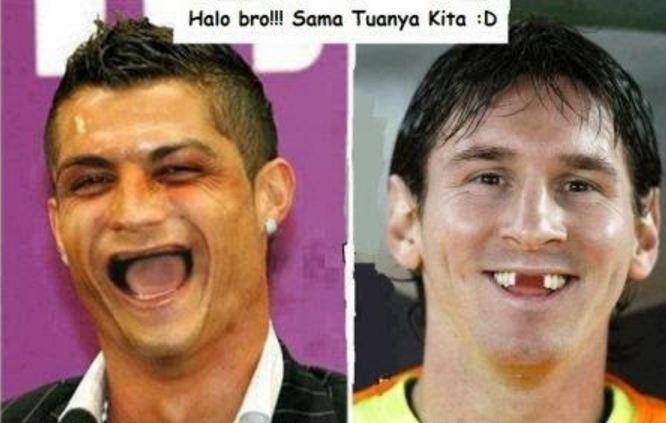 15 Meme Kocaknya Persaingan Antara Cr7 Messi Bikin Kamu Geregeta
