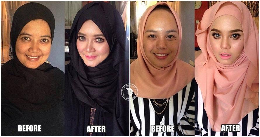 20 Foto keajaiban makeup cewek ini buktikan cantik butuh modal
