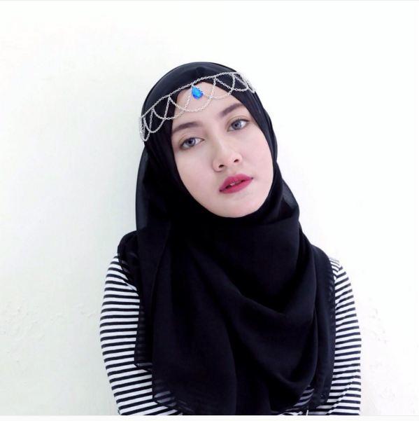 Aksesoris hijab © 2016 brilio.net