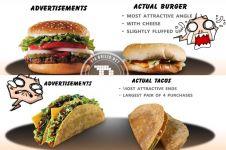 Jangan terjebak iklan makanan, 9 foto ini buktinya