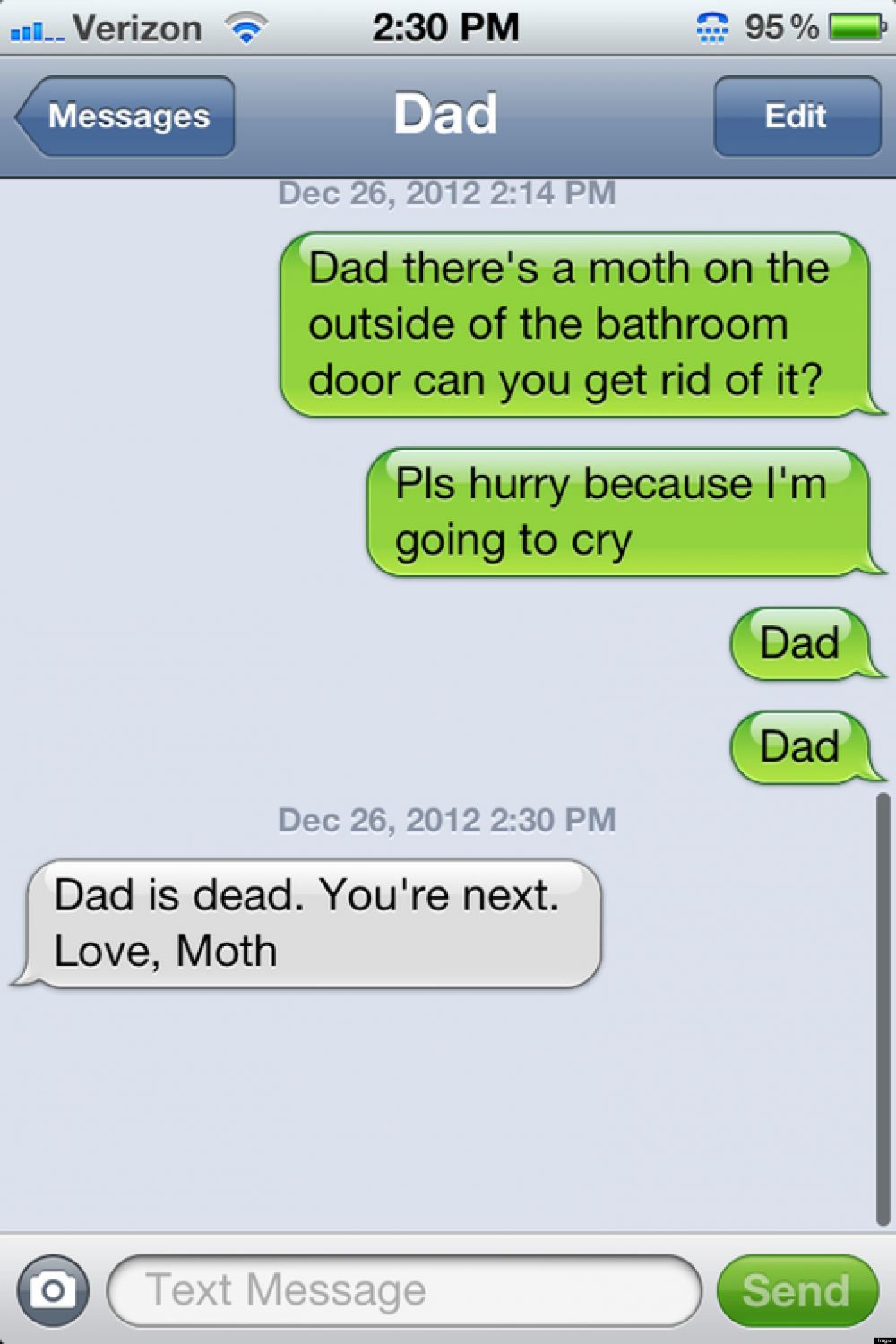 14 parents texting blunders that will make you lol image via huffingtonpost