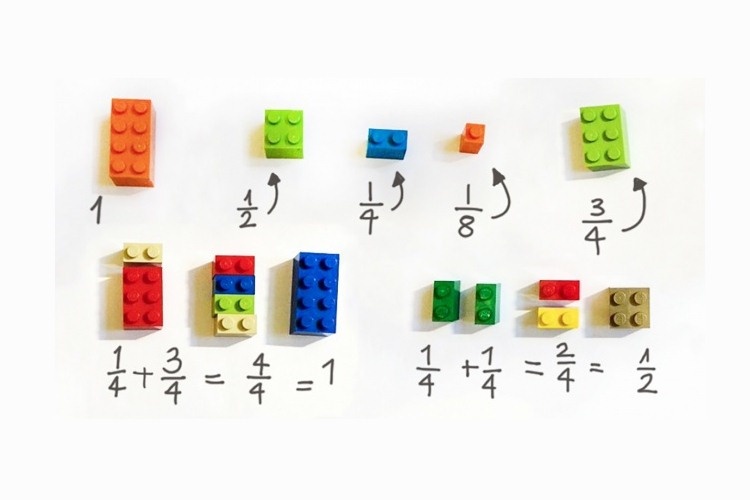 Ini cara mudah ajari anak materi matematika dasar dengan lego