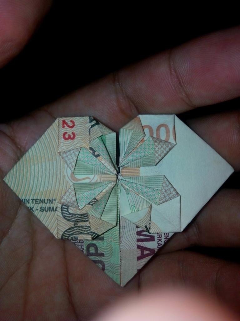 tutorial origami uang kertas