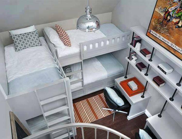 25 Desain tempat tidur tingkat untuk kamu yang ingin banyak anak