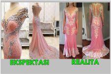 Beli gaun online seharga Rp 3 juta, gadis ini merasa dapat sprei