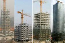 Pembangunan cepat ala China,  gedung 57 lantai dibangun dalam 19 hari!