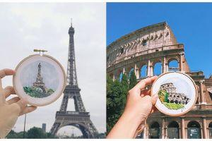 20 Rajutan keren ini mampu gambarkan kota-kota indah di dunia, wow!