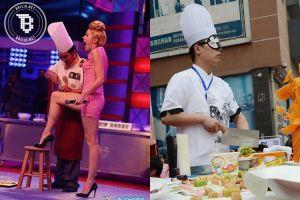 Aksi chef di China ini bikin melongo, ada yang potong daging di perut