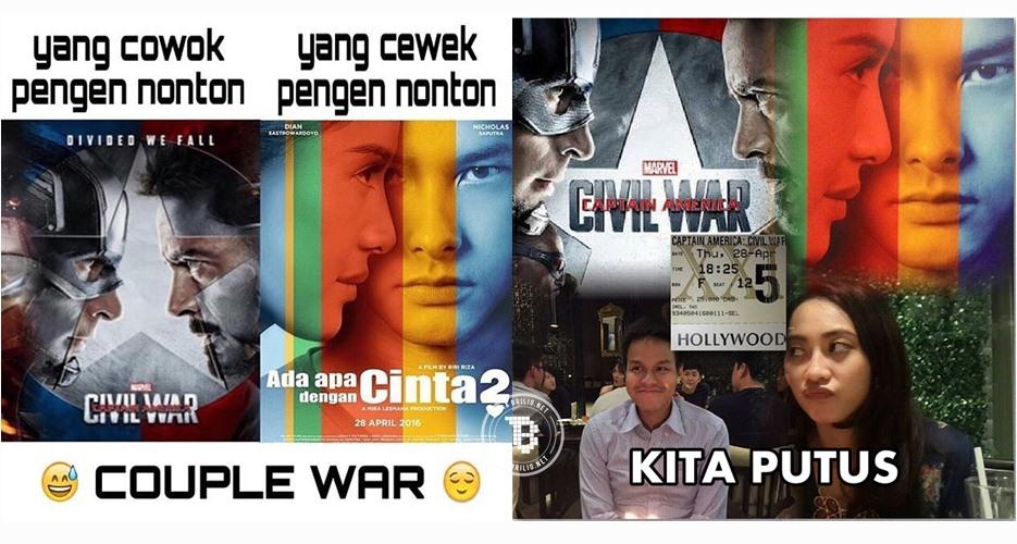 20 Meme kocak AADC 2 vs Captain Amerika: Civil War, bikin kamu ngakak!