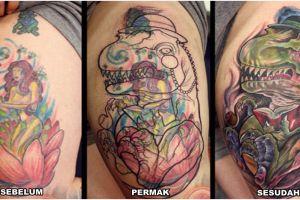 16 Foto before-after permak tato ini bikin kagum, artistik banget nih!