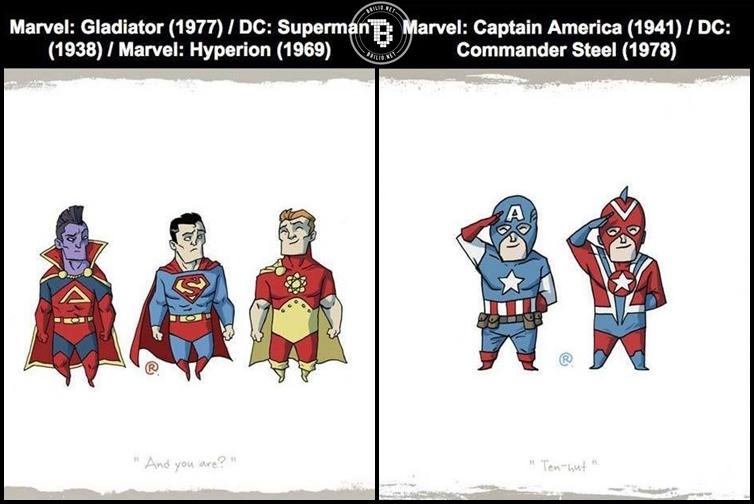Marvel dan DC ternyata punya 22 superhero serupa, siapa yang plagiat?