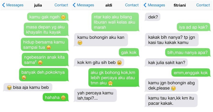 24 Percakapan SMS pengorbanan pacar ini bikin terenyuh