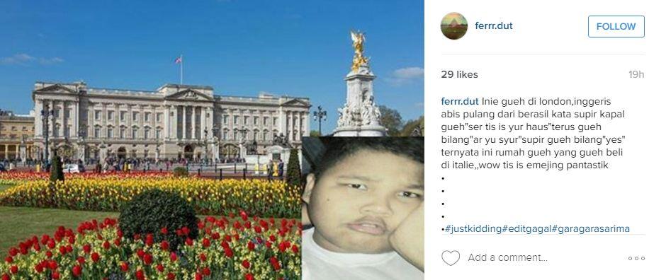 Ikuti tren Farish, 16 editan foto ke luar negeri ini bikin ngakak