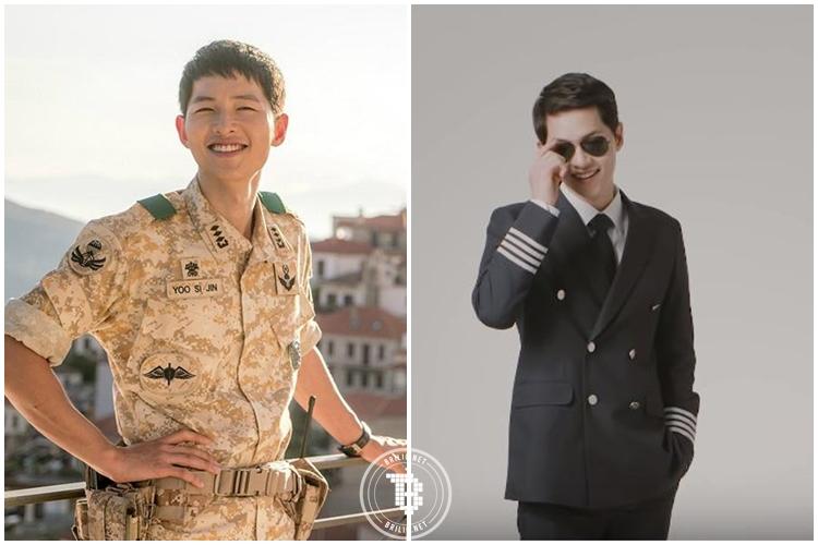 Gantengnya Song Joong Ki saat jadi tentara dan pilot, kamu pilih mana?