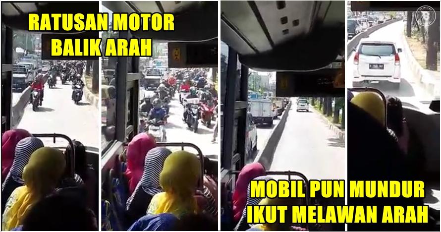 Potret aksi tak terpuji pengguna jalan di Jakarta, bikin geregetan!