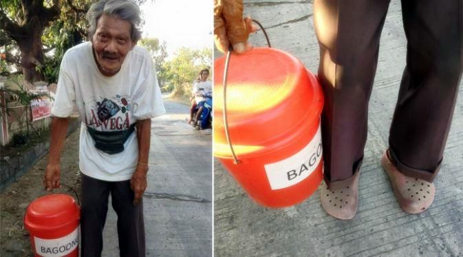 Kakek ini saban hari berjalan 20 km hanya demi uang Rp 14 ribu, salut!
