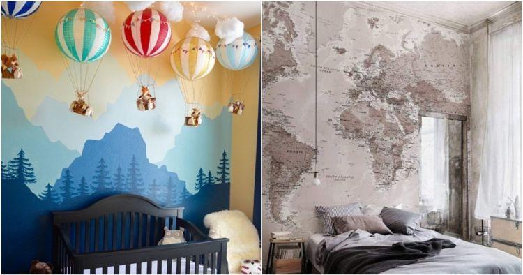 Wallpaper Dinding Desain Sendiri  16 hiasan dinding yang membuat kamarmu lebih nyaman