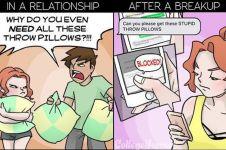 7 Ilustrasi kondisi cewek saat masih punya pacar sampai setelah putus!
