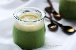 Mau puding yang beda? Bikin silky green tea pudding aja, yuk!