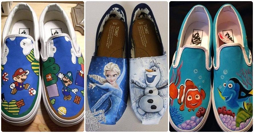 15 Sepatu bertema kartun ini keren abis, bikin pengen koleksi!
