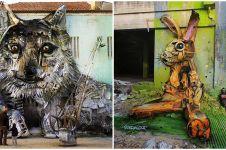 Ubah sampah menjadi karya seni, seniman ini bawa pesan bahaya polusi