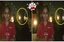 Fokus di depan kamera, reporter tvOne nyaris ditabrak bus, waduh!