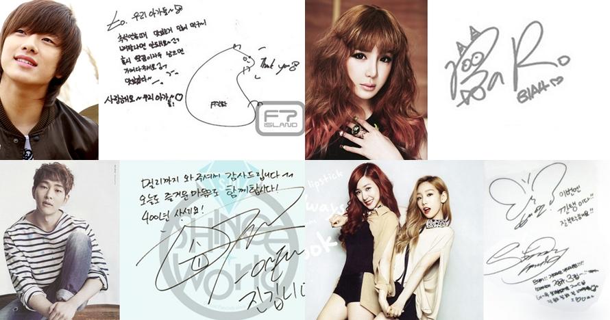 9 Tanda tangan artis K-Pop kondang, dari lucu sampai rumit banget!