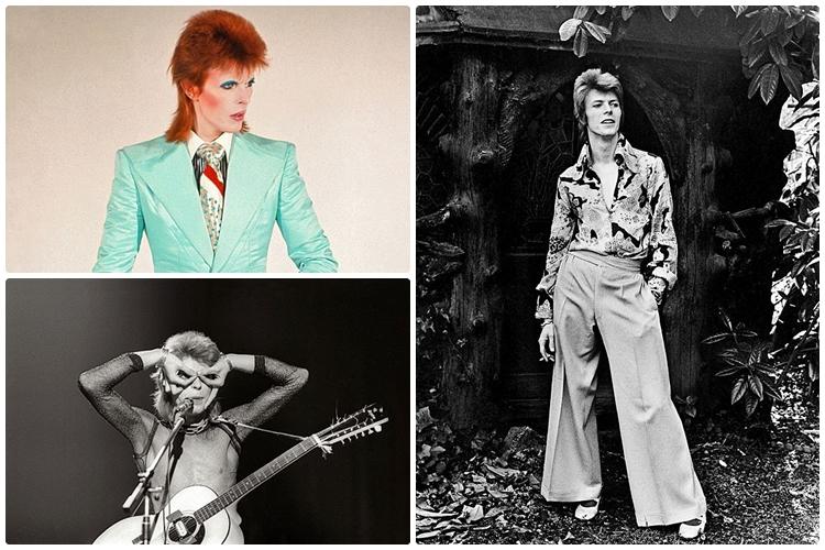 15 Gaya nyentrik David Bowie bikin beda dengan rocker lainnya, keren!