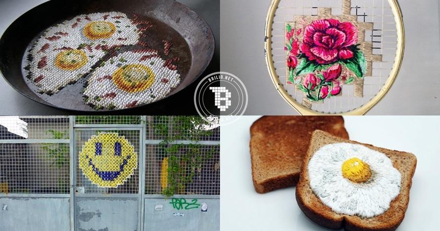 20 Hasil sulaman artis populer ini keren, ada yang pakai media mobil!