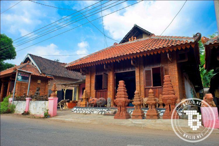 Contoh Denah Rumah Kampung  melihat kampung majapahit di trowulan jelajahi permukiman