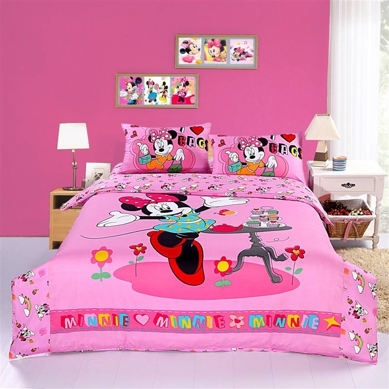 Minnie Mouse Bedroom Curtains Bedroom Cabinet Design For Small Room Yellow Wall Bedroom Design Accent Wall Ideas For Small Bedroom: 15 Desain Kamar Bertema Mickey Mouse, Lucu Banget Deh