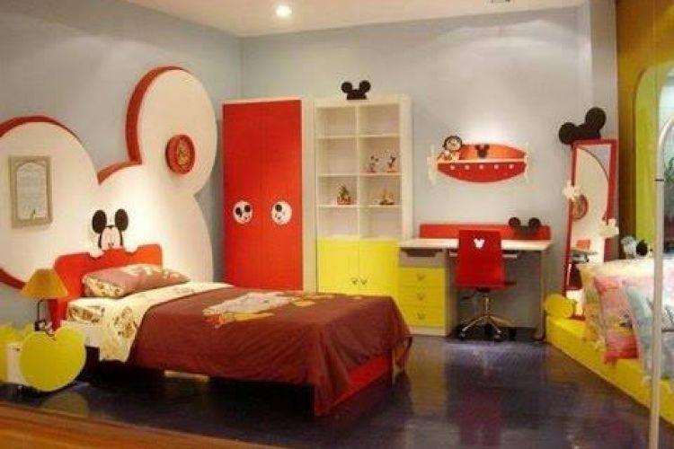 15 Desain Kamar Bertema Mickey Mouse Lucu Banget Deh Bikin Gemas