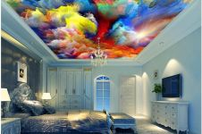 Unik, 15 plafon 3D ini bikin betah tiduran memandangi langit-langit