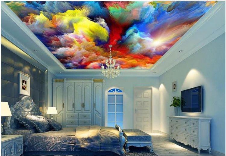 Contoh Gambar Plafon Gypsum Kamar Tidur  unik 15 plafon 3d ini bikin betah tiduran memandangi langit