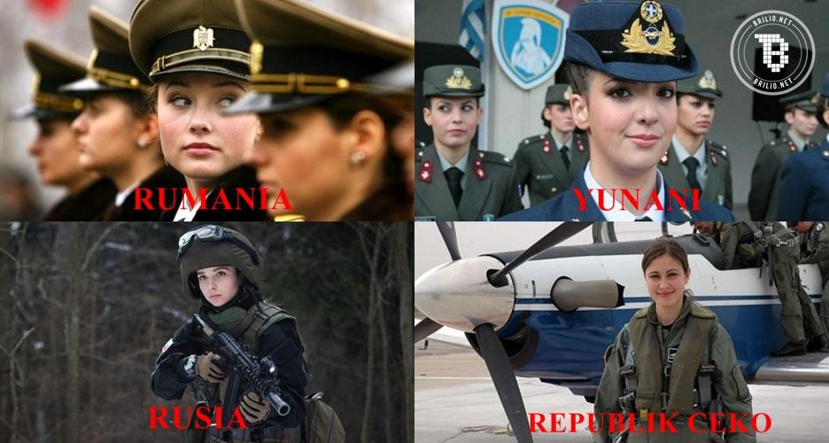 10 Prajurit militer cantik di dunia ini bikin semangat siap grak!