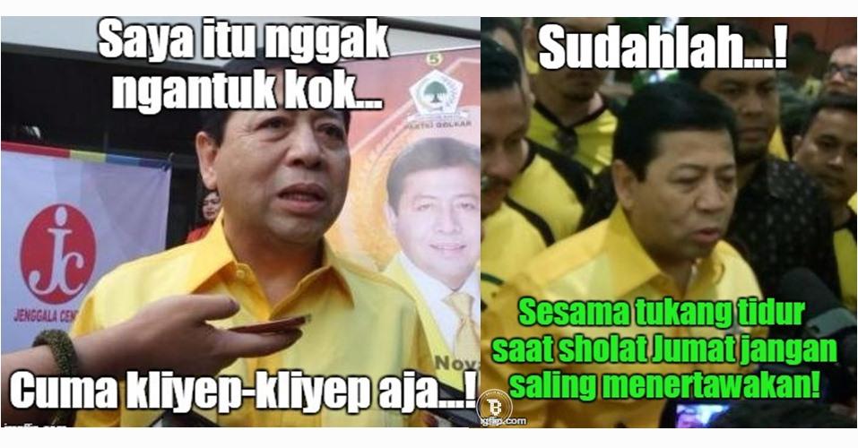 11 Meme Setya Novanto mengantuk ini lucu banget, papa minta bantal!