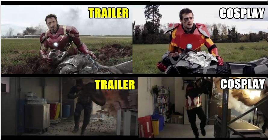 Aksi kocak tirukan trailer Civil War ini menghibur jutaan orang