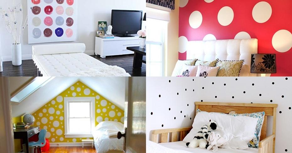 17 Desain manis wallpaper polkadot, ide yang bagus untuk hias rumahmu!